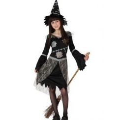 Costume STREGA PEZZATA bambina