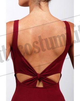 Body in cotone con nodo sulla schiena