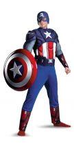 Costume The Avengers CAPITAN AMERICA con muscoli