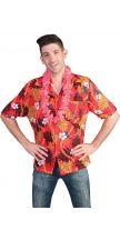 Camicia Hawaiana PARADISO ROSSO