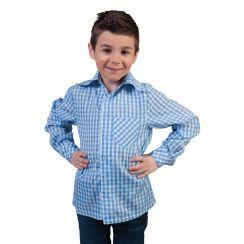 Camicia bavarese BLU-BIANCO bambino