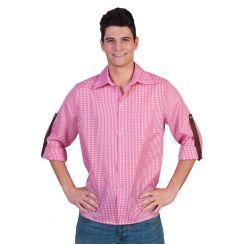 Camicia bavarese ROSA-BIANCO uomo