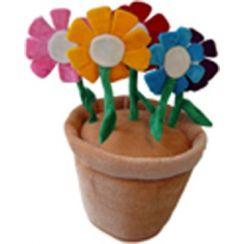 Cappello vaso fiori