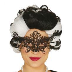 Maschera con ricamo nera