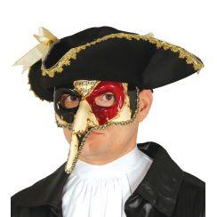 Maschera veneziana MUSICA con NASO LUNGO