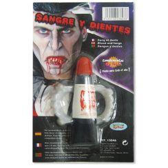 DENTIERA vampiro con SANGUE