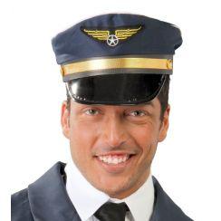 Cappello Blu da pilota d'aereo