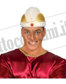 Cappello MAHARAJA ORO con gemma rossa 98909028900f