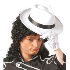 Cappello GANGSTER bianco fascia nera