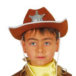 Cappello SCERIFFO bambino marrone
