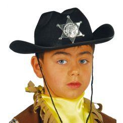 Cappello SCERIFFO bambino nero
