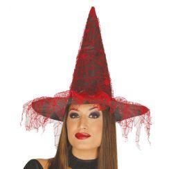 Cappello STREGA con velo rosso