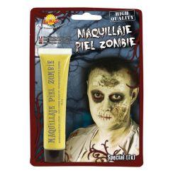 Trucco pelle zombie giallastra