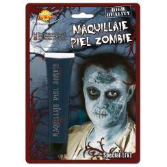 Trucco pelle zombie celeste