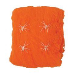 Ragnatele arancioni con ragni 60 gr.