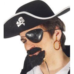 Set benda pirata e orecchino a cerchio