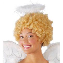 Aureola con piume bianca