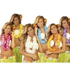 10 x Collane HAWAIANE fiori doppi