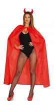 Mantello rosso 130 cm