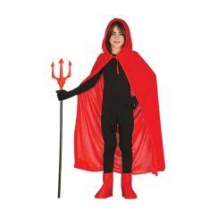 Mantello con cappuccio rosso 100 cm
