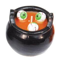Candela zuppa con occhi colorata