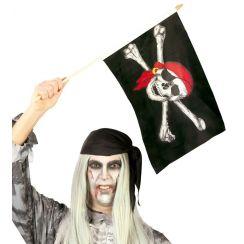 Bandiera pirata teschio con bandana