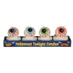 Confezione da 4 candele occhio 4.5 cm