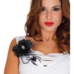 Fiore nero con ragno