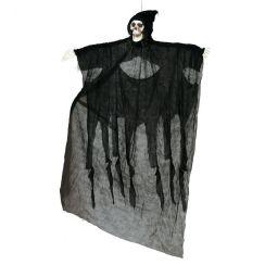 Scheletro nero con cappuccio 180 cm da appendere