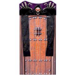 Copri porta con scheletro e luci 180 x 80 cm