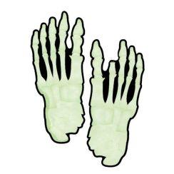 15 Impronte piedi scheletro fluorescenti