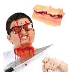 Effetto speciale taglio sulla gola