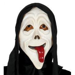Cappuccio con maschera assassino con linguaccia