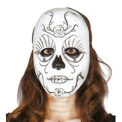 Maschera SANTA MUERTE bianco e nero