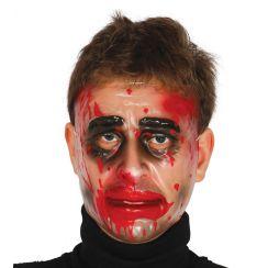 Maschera trasparente uomo con sangue