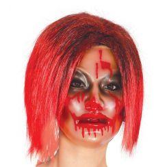 Maschera trasparente donna con sangue