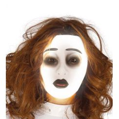 Maschera trasparente donna fluorescente