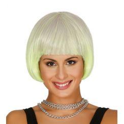 Parrucca corta bianca e gialla degradé