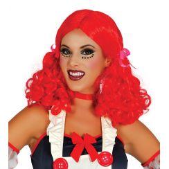 Parrucca rossa code boccoli