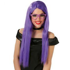 Parrucca viola lunga