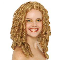 Parrucca boccoli bionda