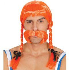 Parrucca gallica arancione