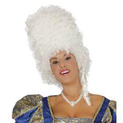Parrucca alta nobildonna bianca