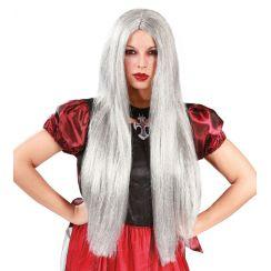 Parrucca lunga argento