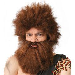 Parrucca CAVERNICOLO con barba