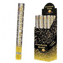 Tubo spara coriandoli oro 40 cm