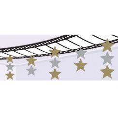 Decorazione TECNO con stelle 240 X 30 cm
