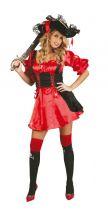 Costume PIRATA donna ROSSO