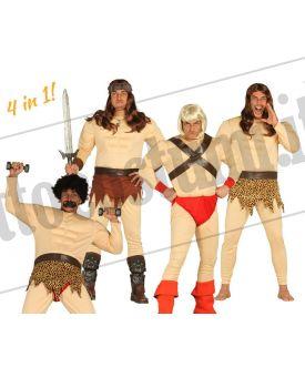 Costume UOMO MUSCOLOSO 4 in 1