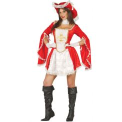 Costume MOSCHETTIERA rossa